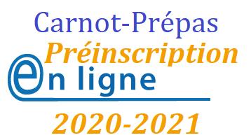 CPGE préinscription carnot prépas